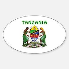 Tanzania Coat of arms Sticker (Oval)