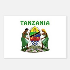 Tanzania Coat of arms Postcards (Package of 8)