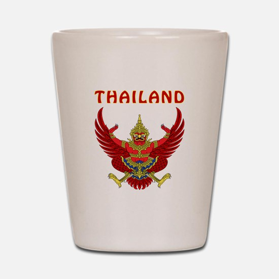 Thailand Coat of arms Shot Glass