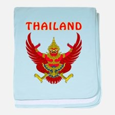 Thailand Coat of arms baby blanket