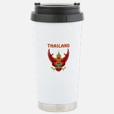 Thailand Coat of arms Stainless Steel Travel Mug