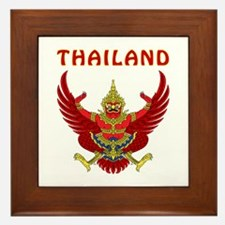 Thailand Coat of arms Framed Tile