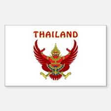 Thailand Coat of arms Sticker (Rectangle)