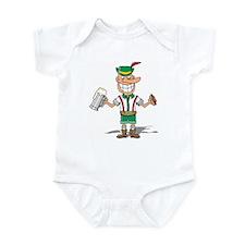 Two-fisted Lederhosen Infant Bodysuit