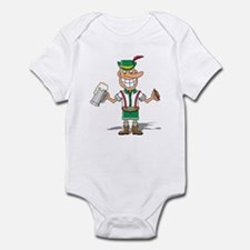 Two-fisted Lederhosen Infant Bodysuit