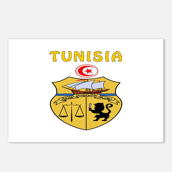 Tunisia Coat of arms Postcards (Package of 8)