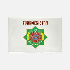 Turkmenistan Coat of arms Rectangle Magnet