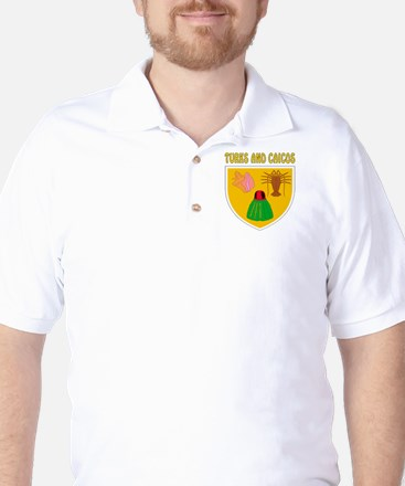 Turks and Caicos Coat of arms Golf Shirt