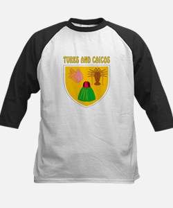 Turks and Caicos Coat of arms Kids Baseball Jersey