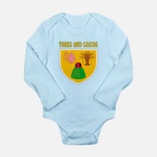 Turks and Caicos Coat of arms Long Sleeve Infant B