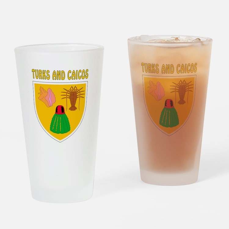Turks and Caicos Coat of arms Drinking Glass