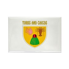 Turks and Caicos Coat of arms Rectangle Magnet