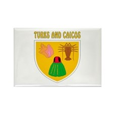 Turks and Caicos Coat of arms Rectangle Magnet (10