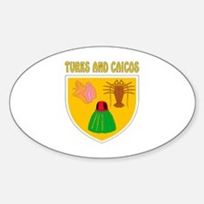 Turks and Caicos Coat of arms Sticker (Oval)