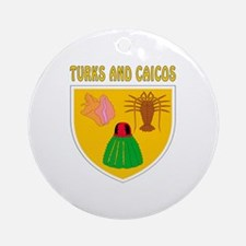 Turks and Caicos Coat of arms Ornament (Round)