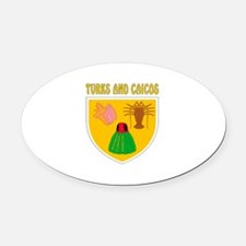 Turks and Caicos Coat of arms Oval Car Magnet