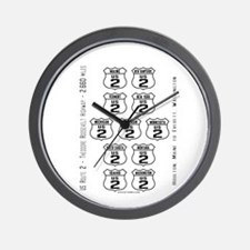 US Route 2 - All States - Wall Clock