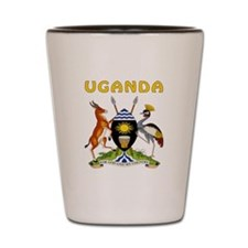Uganda Coat of arms Shot Glass