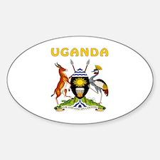Uganda Coat of arms Sticker (Oval)