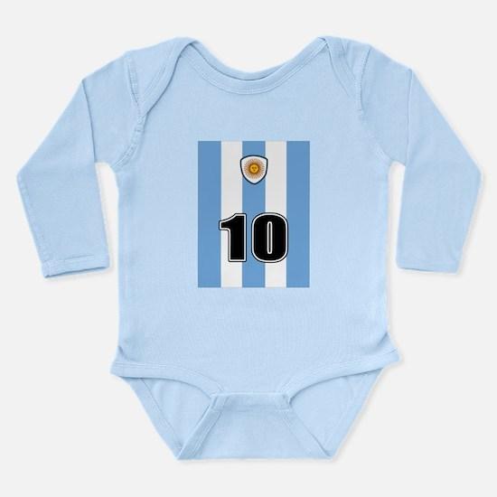 Argentina soccer Long Sleeve Infant Bodysuit