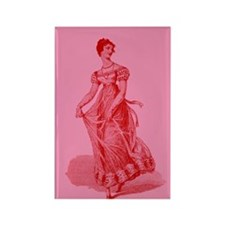 Regency Lady In Gown Rectangle Magnet
