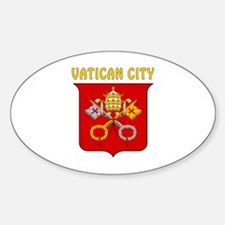 Vatican city Coat of arms Sticker (Oval)