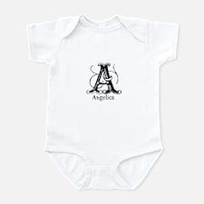 Angelica: Fancy Monogram Infant Bodysuit