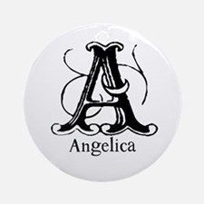 Angelica: Fancy Monogram Ornament (Round)