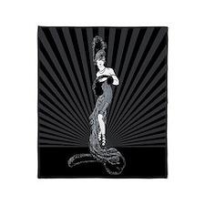 Art Deco Corset Glamour Throw Blanket