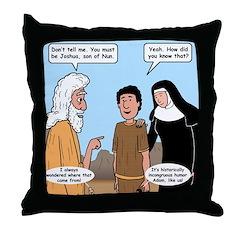 Son of Nun Throw Pillow