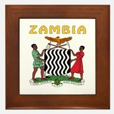Zambia Coat of arms Framed Tile