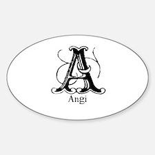 Angi: Fancy Monogram Oval Decal