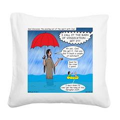 When it Rains it Pours Square Canvas Pillow