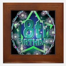 18th birthday celebration art illustration Framed