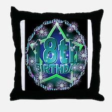 18th birthday celebration art illustration Throw P