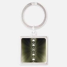 Diamonds Square Keychain