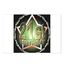 21st birthday celebration art illustration Postcar