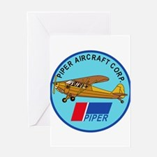 Piper Aircraft Corporation Abzeichen Greeting Card