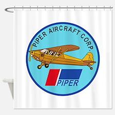 Piper Aircraft Corporation Abzeichen Shower Curtai