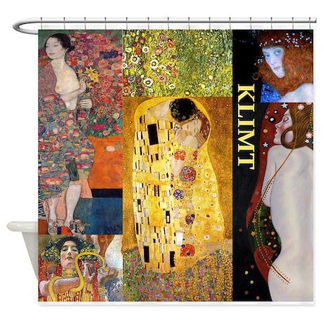Klimt collage Shower Curtain