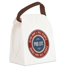 Abortions Kill People Canvas Lunch Bag