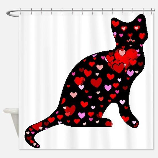 Cat Love Shower Curtain