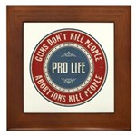 Abortions Kill People Framed Tile