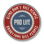 Abortions Kill People Round Car Magnet