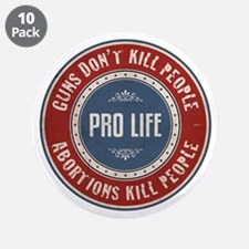"Abortions Kill People 3.5"" Button (10 pack)"