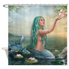Marine Mermaid Shower Curtain