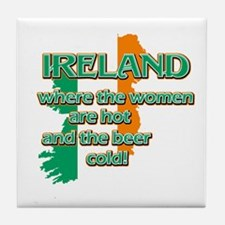 Map of Ireland St Patrick's day designs Tile Coast