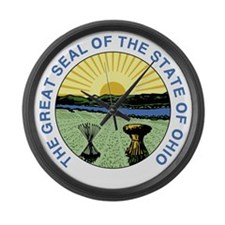 Great Seal of Ohio 1967–1996 Large Wall Clock