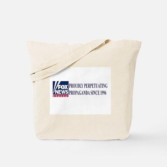 fox news propaganda Tote Bag