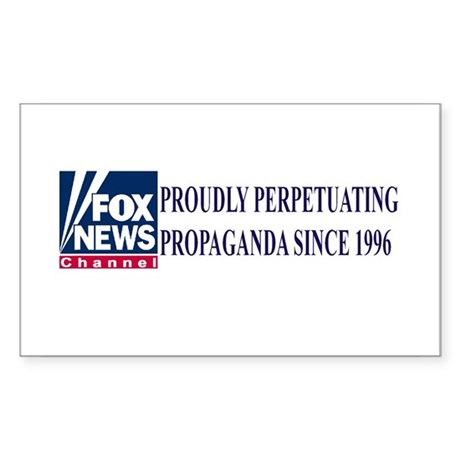 fox news propaganda Sticker (Rectangle)